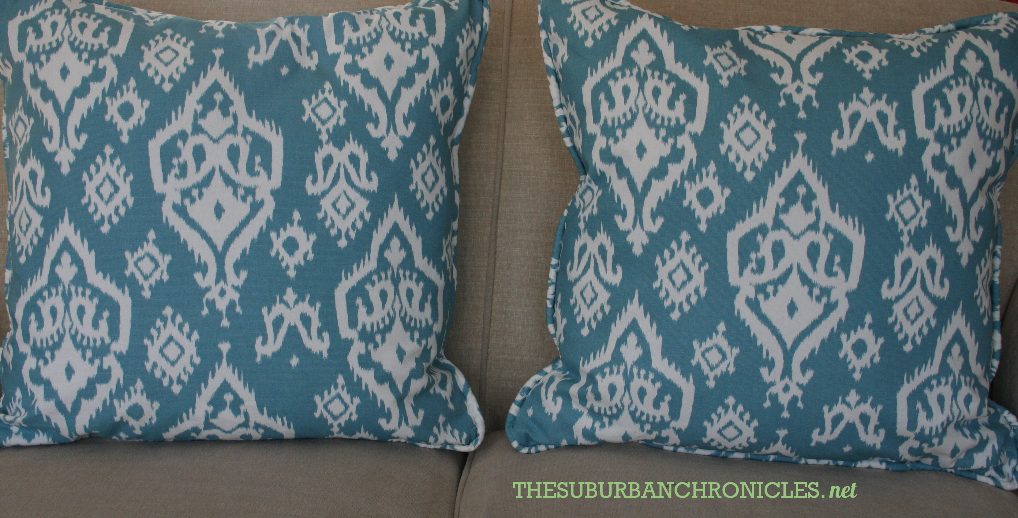 Sewing Throw Pillow With Zipper And Piping : Sewing: Make Pillows With Zippers + Piping - The Suburban Chronicles