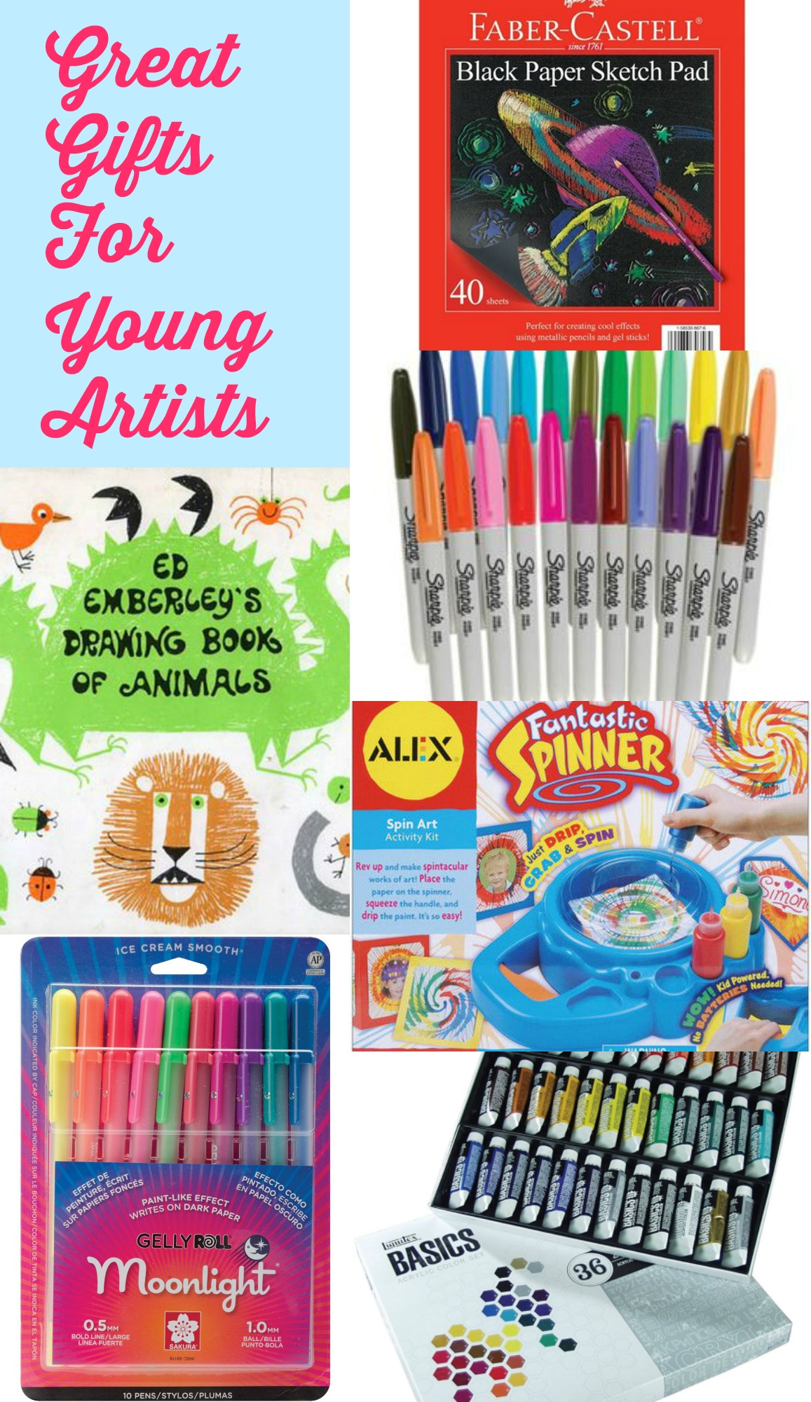 The Perfect Birthday Present Or Just Something To Pass Time On A Rainy Day There Are Lots Of Great Gift Options For Young Artists